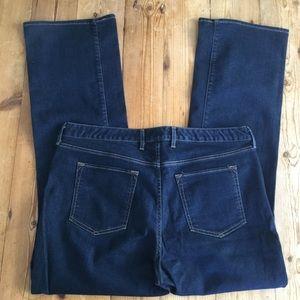 Eddie Bauer Dark Wash Curvy Boot Cut Jeans